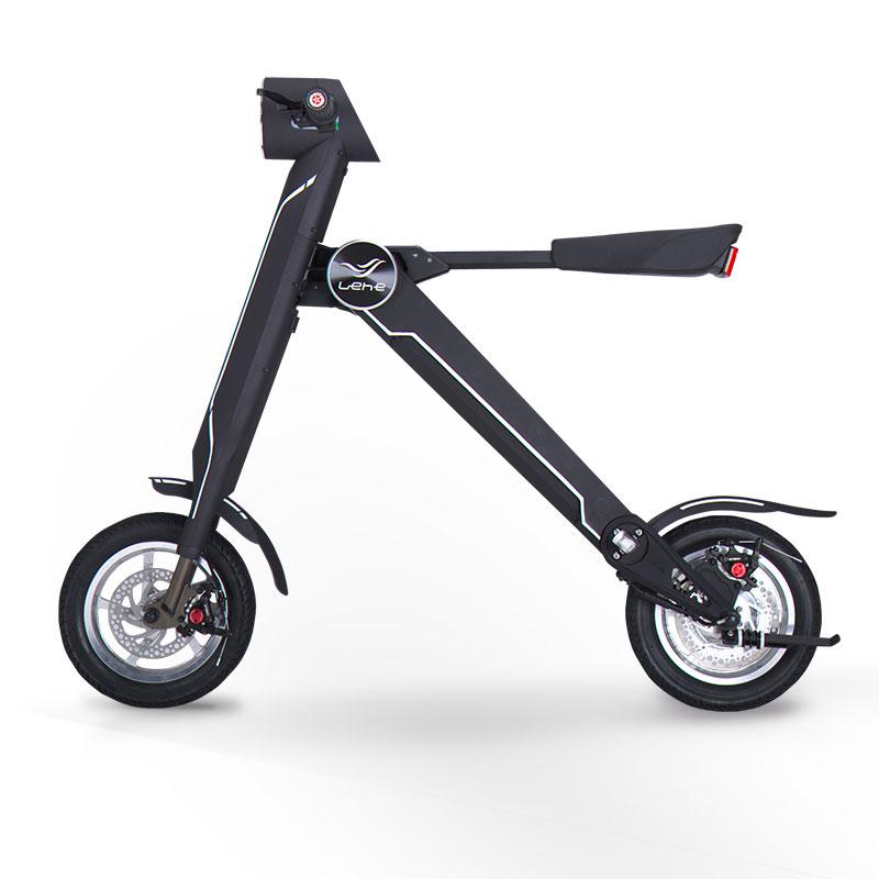 LEHE K1 Black CE/RoHS Wholesale Most Eco China Mini 12 inch Folding Electric Scooter