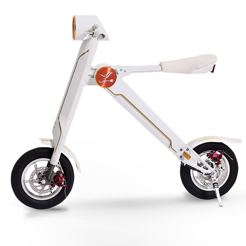 LEHE K1 White two wheel folding electric scooter for adult